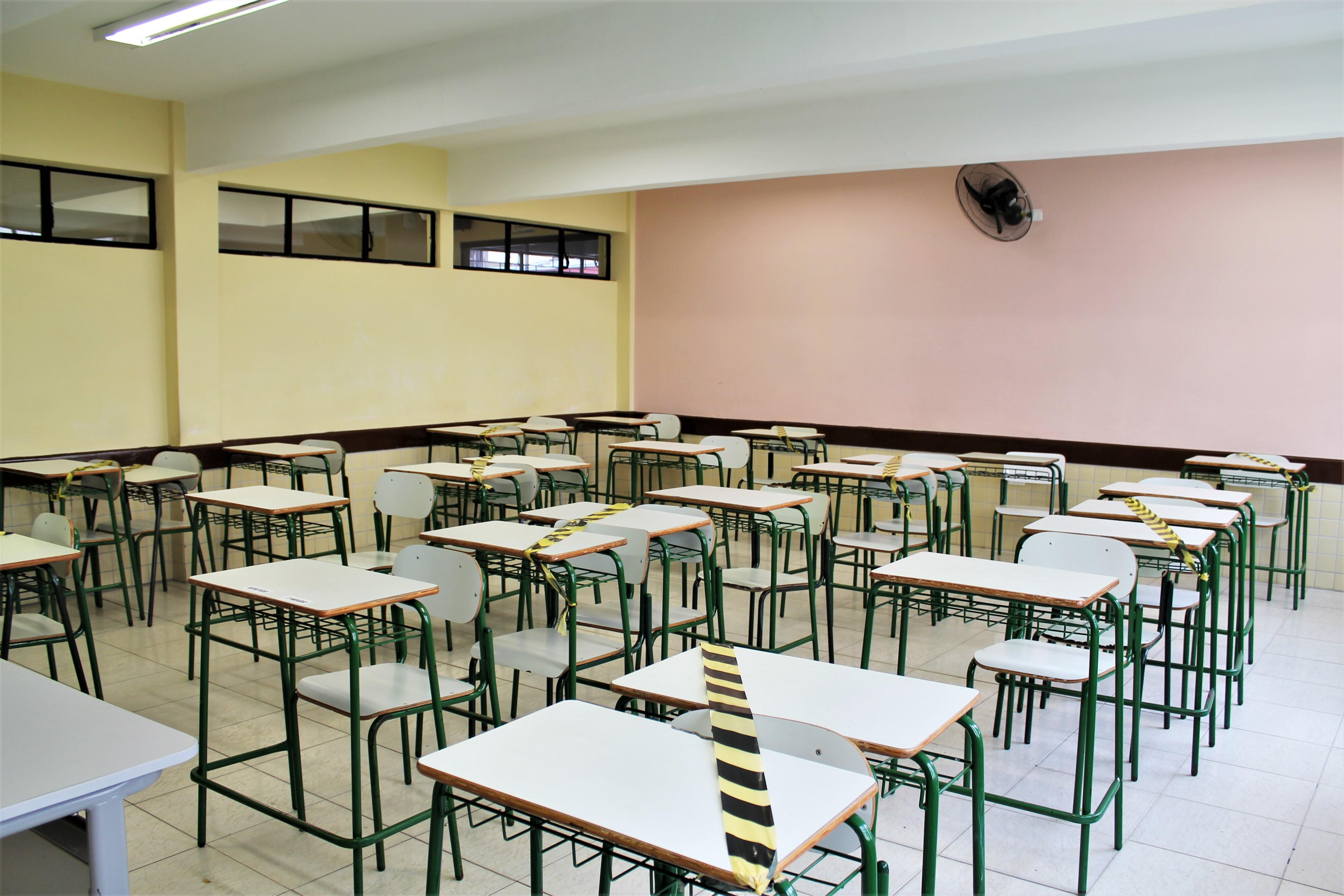 95% das escolas já receberam materiais para prevenção da Covid-19