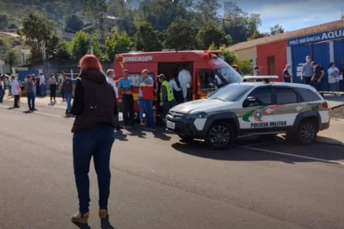 Santa Catarina: conforme a prefeitura, a escola pró-infância Aquarela atende alunos do berçário, até 3 anos (Youtube/Reprodução)
