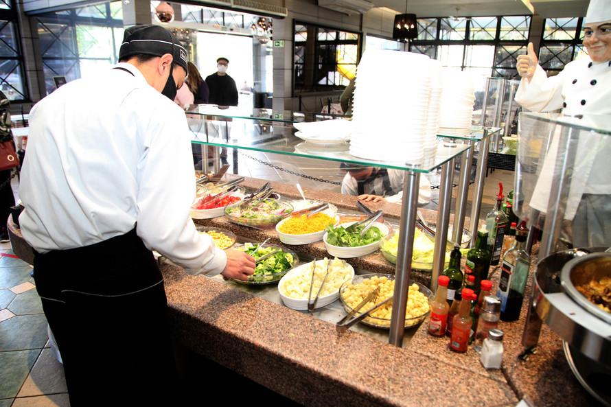 Segmento dos restaurantes está enquadrado. Foto: Ari Dias/AEN