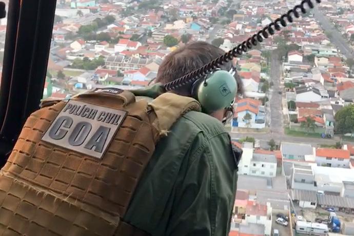 Operação da PCPR mira organização criminosa responsável por furtos em prédios comerciais . Foto: PCPR